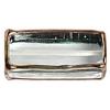 Glass Lamp Bead Prism 32x14x14mm Crystal/Bronze